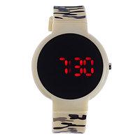 Часы наручные 'Ройстон', электронные, с силиконовым ремешком, l23 см, микс