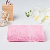 Полотенце махровое гладкокрашеное 'Эконом' 50х90 см, цвет розовый