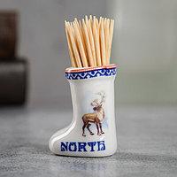 Сувенир для зубочисток в форме валенка 'Север'