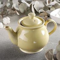 Чайник 'Акварель', 400 мл, цвет жёлтый