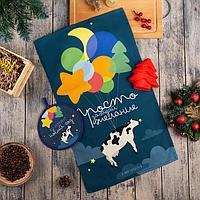 Набор подарочный 'С Новым Годом' кух. полотенце, прихватка, силикон.форма