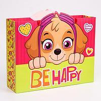Пакет ламинат горизонтальный 'Be happy', Щенячий патруль, 31х40х11 см
