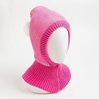 Шлем детский, цвет розовый/белый, размер 44-46