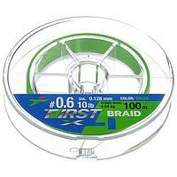 Леска плетёная Intech First Braid PE X4 0,128 мм, 100 м