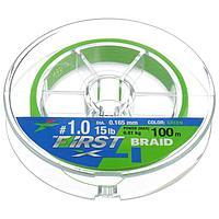Леска плетёная Intech First Braid PE X4 0,165 мм, 100 м