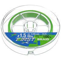 Леска плетёная Intech First Braid PE X4 0,205 мм, 100 м