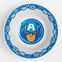 Салатник керамический детский 'Капитан Америка', Мстители, 360 мл, 140мм