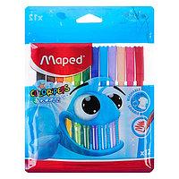 Фломастеры 12 цветов, Maped Color Peps Ocean, суперсмываемые, с заблокированным пишущим узлом