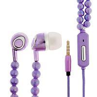 Наушники LuazON VBT 1.11 'Жемчуг', вакуумные, микрофон, фиолетовые