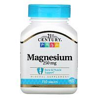Магний, 250 мг, 110 таблеток от 21st Century