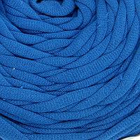 Пряжа трикотажная широкая 50м/160гр, ширина нити 7-9 мм (070 синий)