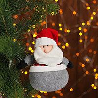 Подвеска 'Дед Мороз и Снеговик', жилетка в клеточку, виды МИКС