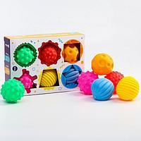 Подарочный набор развивающих мячиков 'Цвета и формы' 6 шт., цвета и формы МИКС