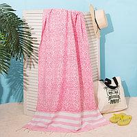Полотенце для ванны Пештемаль Этель 'Персия' 90х170см, 150г/м,80 хл, 20 п/э, розовый