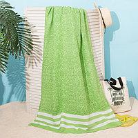 Полотенце для ванны Пештемаль Этель 'Персия' 90х170см, 150г/м,80 хл, 20 п/э, зеленый