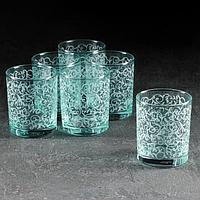 Набор стаканов 'Лиана. Морская волна', 250 мл, 6 шт