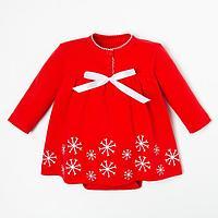 Боди-платье Крошка Я 'Winter party', рост 80-86 см, красный