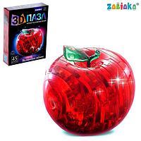 Пазл 3D кристаллический 'Яблоко', 45 деталей, цвета МИКС