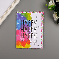Поздравительная открытка и конверт American Crafts 'WatercolrBday'