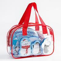 Детский набор для купания 'Мишка Умка' в сумке мочалка, книжка - непромокашка, EVA игрушки