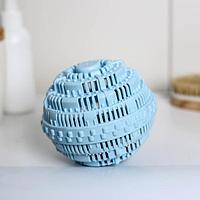 Шар турмалиновый для стирки белья Доляна, 10x10 см, цвет голубой