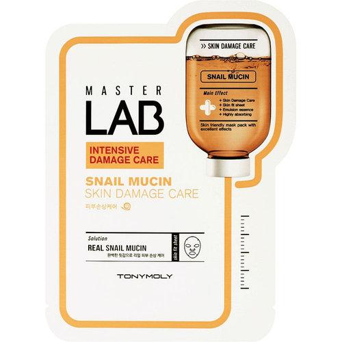 Маска для лица Tony Moly Master Lab Snail Mucin с экстрактом муцина, 19 мл