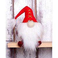 Набор для изготовления игрушки из фетра с мехом 'Красный Гном' 15,5см ПФГ-1551