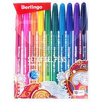 Набор гелевых ручек 10 цветов, Berlingo 'Triangle Gel' 0.5мм, микс