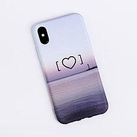 Чехол для телефона iPhone X/XS 'Любовьэто маяк' soft touch, 14.5 x 7 см