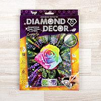 Набор для создания мозаики 'Алмазная роза' DIAMOND DECOR, планшетка без рамки