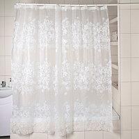 Штора для ванной комнаты Доляна 'Ажур', 180x180 см, EVA, цвет белый