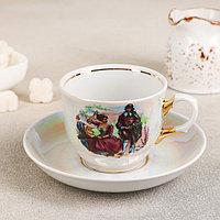 Чайная пара 'Тюльпан. Мадонна' чашка 250 мл, блюдце d15 см