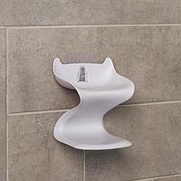 Держатель для ванных принадлежностей на липучке 'Волна', 12x11x14 см, цвет МИКС