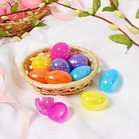 Основа для творчества 'Яйцо перламутр', открывается, набор 10 шт., размер 1 шт 3 x 4,5 см, цвета МИКС