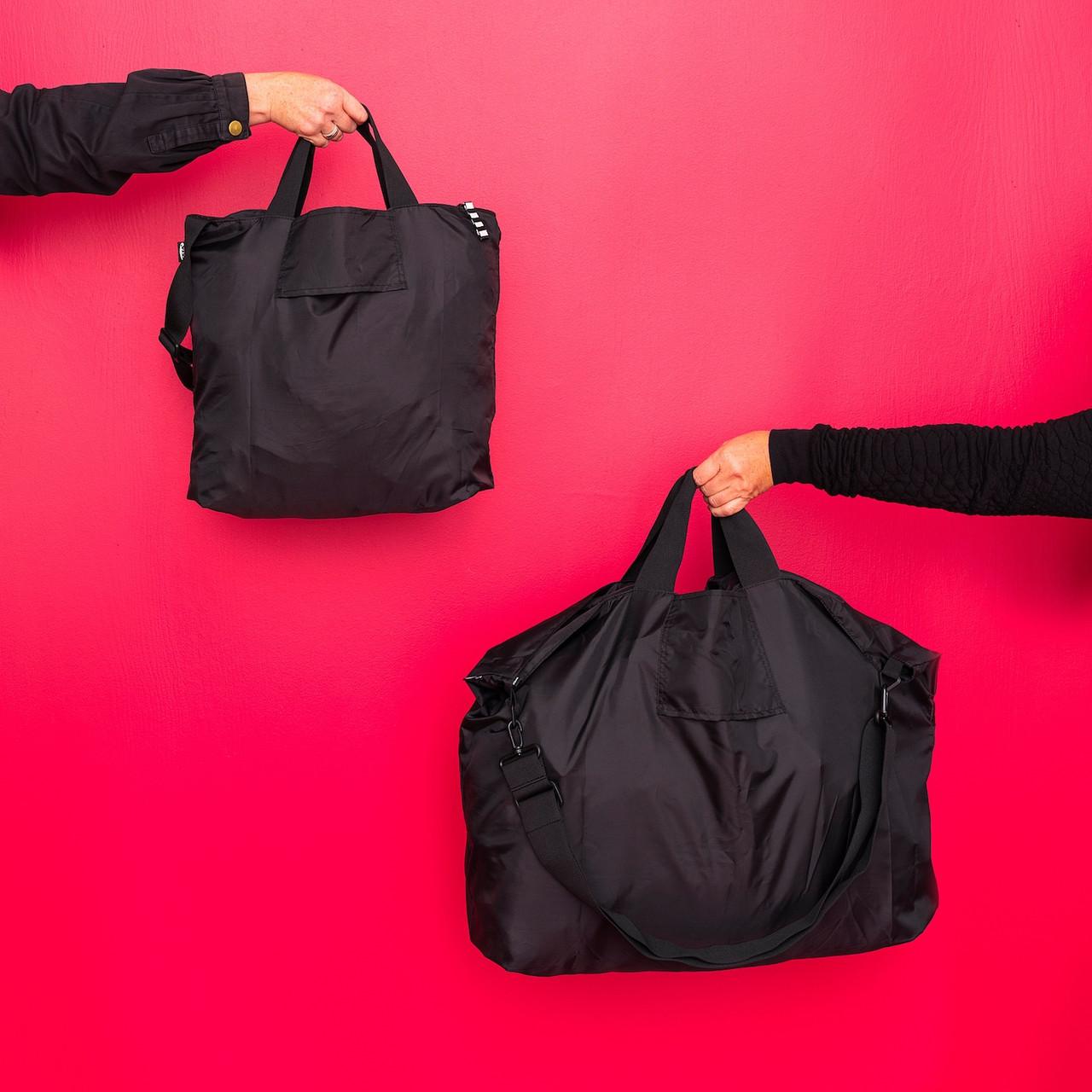 РЭККЛА сумка складная,черный75x45 см/55 л
