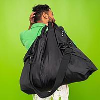 РЭККЛА сумка складная,черный75x45 см/55 л, фото 4