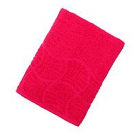 Полотенце махровое банное 'Волна', размер 70х130 см, 300 г/м2, цвет малина