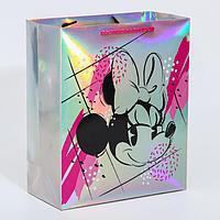 Пакет голография горизонтальный 'Show your Minnie style', Минни Маус, 25 х 21 х 10 см