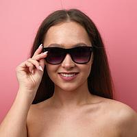 Очки солнцезащитные женские 'Мастер К.', линза 5.3х6 см, ширина 14 см, дужка 15 см