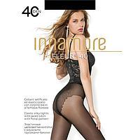 Колготки женские INNAMORE Fleur 40 ден, цвет чёрный (nero), размер 2