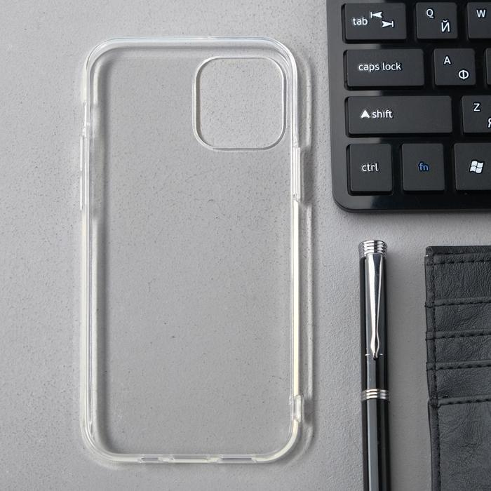 Чехол Innovation, для Apple iPhone 12/12 Pro, силиконовый, прозрачный - фото 2