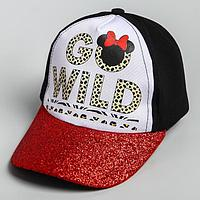 Кепка детская 'Go wild' Минни Маус, р-р 52-56