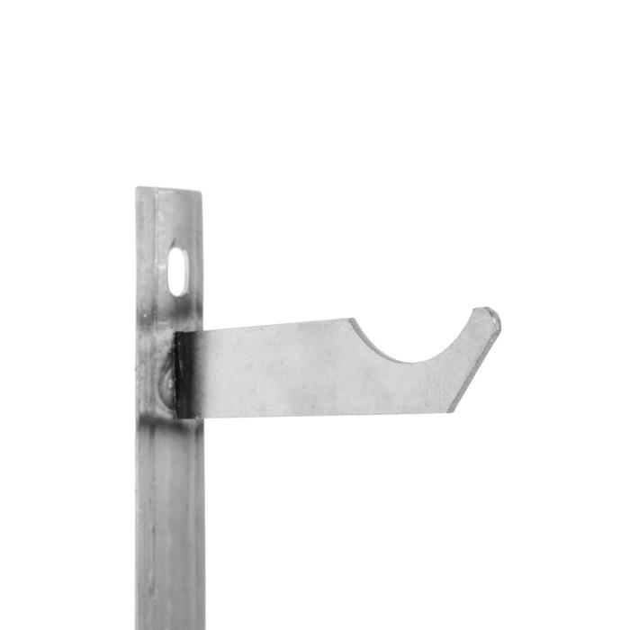 Кронштейн для чугунных радиаторов, двойной на планке, межосевое растояние 500 мм (комплект из 2 шт.) - фото 2
