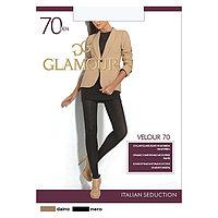 Колготки женские GLAMOUR Velour 70 цвет чёрный (nero), р-р 5