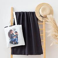 Набор LoveLife 'Super mom' сумка-шопер 33*39 см + флисовый плед 150*130 см