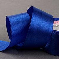 Лента атласная, 40 мм x 23 ± 1 м, цвет синий 40