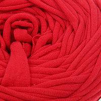Пряжа трикотажная широкая 50м/160гр, ширина нити 7-9 мм (150 красный мак)