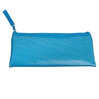 Пенал мягкий, 1 отделение, плоский, 75 х 195 мм, 'Оникс', ПМП 07-52, экокожа, цвет ярко-голубой