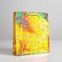 Пакет голографический вертикальный 'Сладости', M 26 x 30 x 9 см (комплект из 12 шт.)