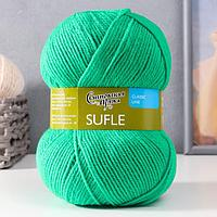 Пряжа Sufle (Суфле) 100 акрил 292м/100гр ярк.зел.(47) (комплект из 3 шт.)